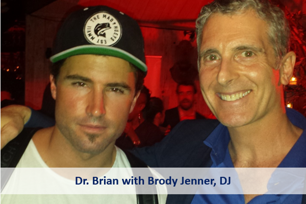 Dr. Brian with Brodie Jenner, DJ