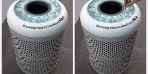 smoking trashcans